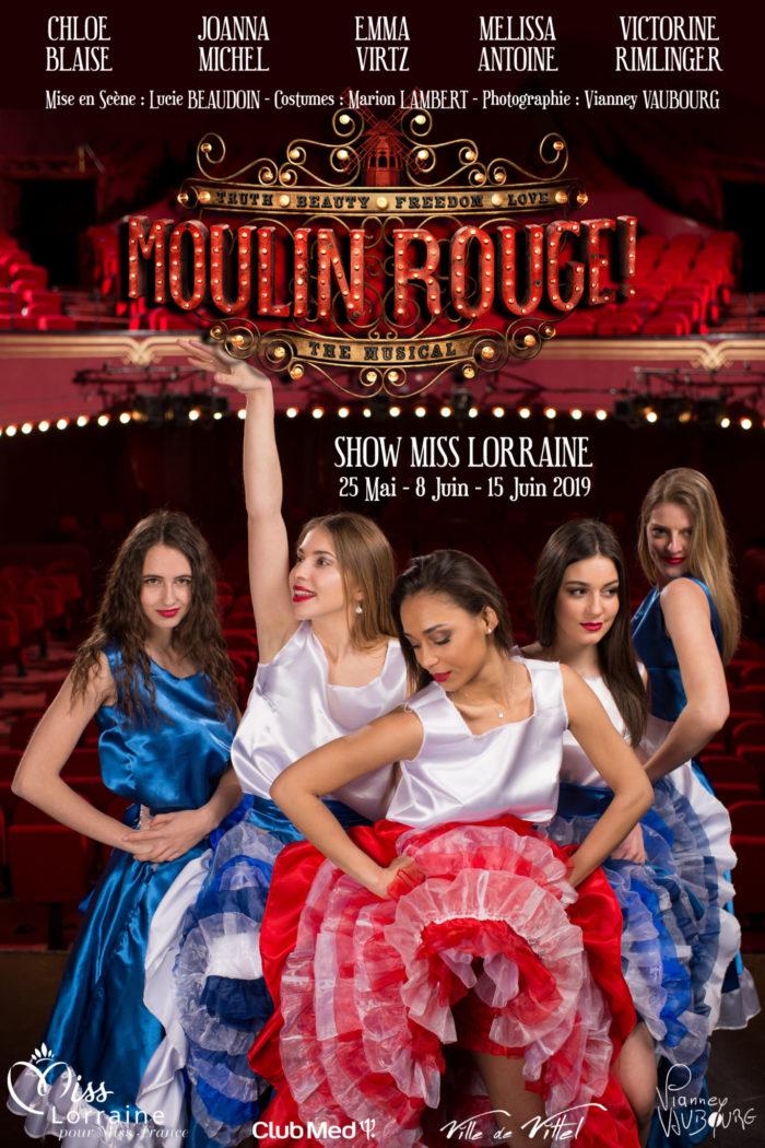 élection Miss Lorraine Sujets Moulin Rouge Version