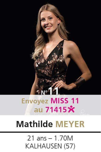 election miss lorraine election Candidate N° Mathilde MEYER vote