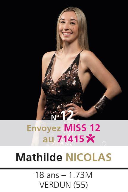 election miss lorraine election Candidate N° Mathilde NICOLAS vote