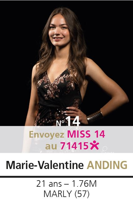 election miss lorraine election Candidate N° Marie Valentine ANDING vote