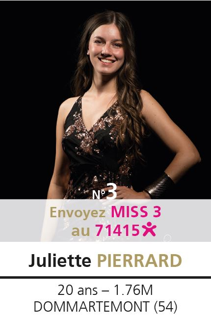 election miss lorraine election Candidate N° Juliette PIERRARD vote