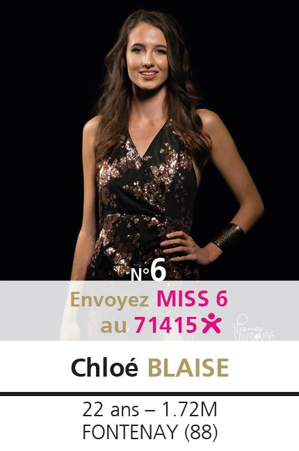 election miss lorraine election Candidate N° Chloé BLAISE vote