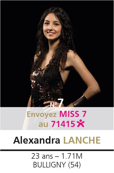 election miss lorraine election Candidate N° Alexandra LANCHE vote