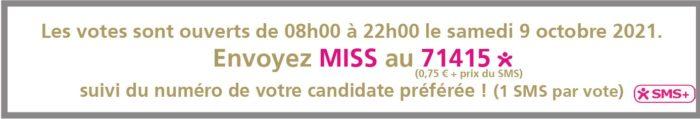election miss lorraine election banderole vote